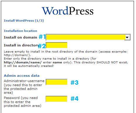 WordPress Install on Bluehost