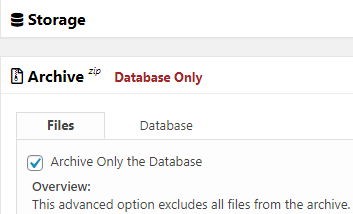 A database only export can help with large websites