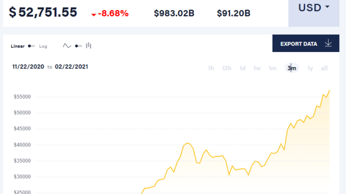 Bitcoin hype and bubble